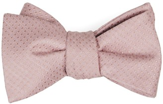 Tie Bar Dotted Spin Blush Pink Bow Tie