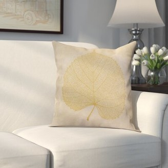 """Alcott Hill Miller Square Pillow Cover & Insert Size: 18"""" H x 18"""" W x 2"""" D, Color: Dark Rust"""