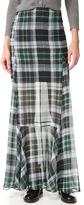 McQ by Alexander McQueen Alexander McQueen Flared Fluid Maxi Skirt