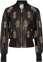 Moschino Embellished leather jacket