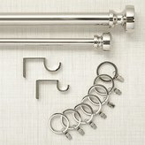 Crate & Barrel Rorke Nickel Curtain Hardware