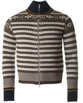 Dries Van Noten Tabor Zip Through Wool Knit