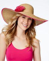 Nine West Fringe Floral Super Floppy Hat
