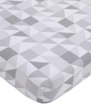 NoJo Modern Geometric Print Fitted Crib Sheet Bedding