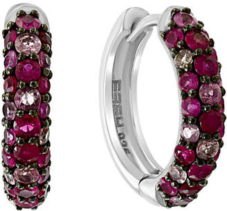 Effy Certified Ruby (1-3/4 ct. t.w.) and Pink Sapphire (7/8 ct. t.w.) Earrings in Sterling Silver