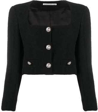 Alessandra Rich Cropped Boucle Jacket