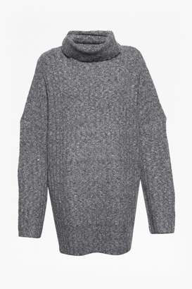 French Connection Riva Rib Knit High Neck Jumper