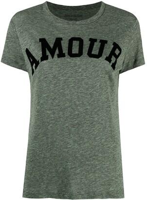 Zadig & Voltaire Walk Amour-flocked T-shirt