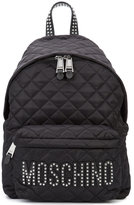 Moschino quilted stud logo backpack - women - Polyamide - One Size