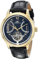 Adee Kaye Men's AK2241-MG/BK Prospere Analog Display Automatic Self Wind Black Watch