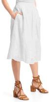 Gap Eyelet midi skirt