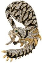 Susan Caplan Vintage 1960s tiger dragon brooch