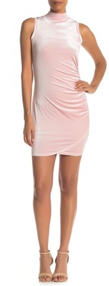 Love, Fire Ruched Velvet Dress