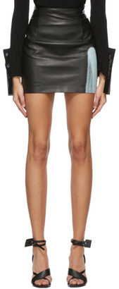 Off-White Black Acid Leather Miniskirt