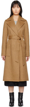 The Loom Tan Mohair and Wool Woven Coat