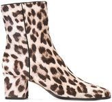 Alexandre Birman leopard pattern ankle boots - women - Leather/Suede/Pony Fur/rubber - 37