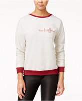 Pretty Rebellious Juniors' Need Coffee Graphic Sweatshirt