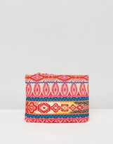 Asos BEACH Fabric Weave Clutch Bag