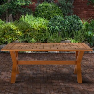 Brayson Wooden Dining Table Union Rustic