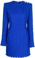 Balmain tweed button-embellished mini dress