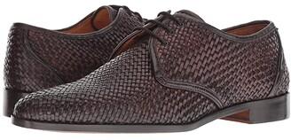 Carlos by Carlos Santana Jazz Oxford (Chocolate Woven Calf Leather) Men's Shoes