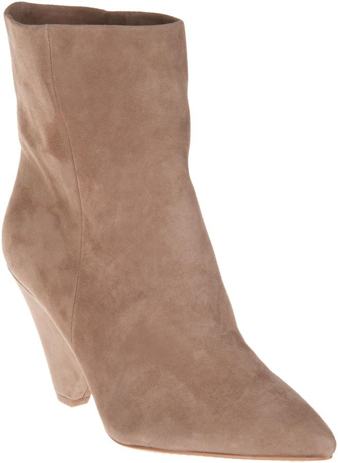 9ec197bb3e1 Suede Cone Heeled Ankle Boots - Regina