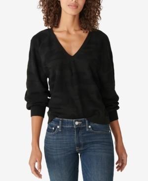 Lucky Brand Camo-Print V-Neck Sweater