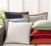 Pottery Barn Synthetic Trim Indoor/Outdoor Pillow