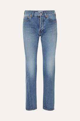 Balenciaga Twisted High-rise Straight-leg Jeans - Mid denim