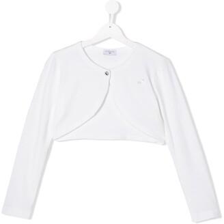 MonnaLisa TEEN long sleeve cropped cardigan