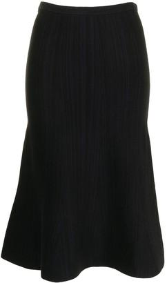 Victoria Victoria Beckham Fluted Midi Skirt