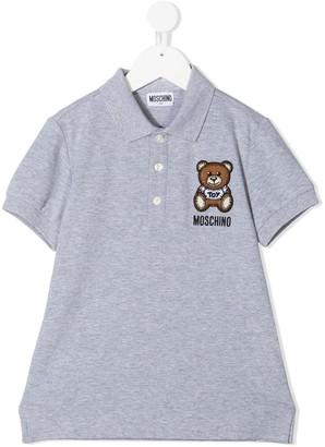 MOSCHINO BAMBINO Embroidered Teddy Polo Shirt