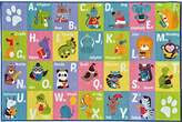 """Kev & Cooper Playtime Collection ABC Alphabet Animal Educational Area Rug - 5'0"""" x 6'6"""""""