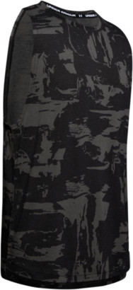 Under Armour Baseline Cotton Tank Top - Black / Beta Red