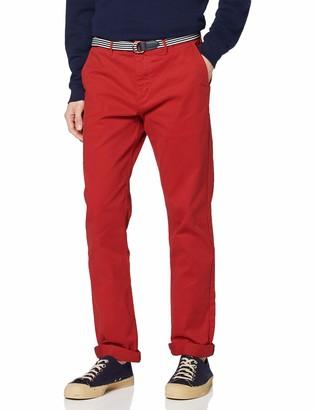 Scotch & Soda Men's AMS Blauw Stretch Stuart Chino with Belt Trouser