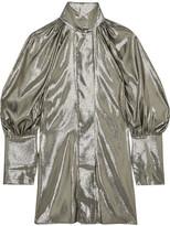 Ellery Witch Doctor Silk-blend Lamé Mini Dress - Platinum