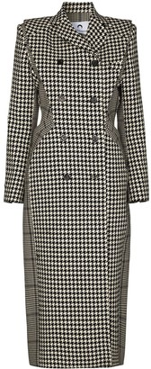Marine Serre Houndstooth-Pattern Double-Breasted Coat