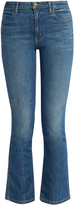 The Great The Nerd high-rise cropped kick-flare jeans