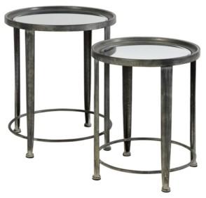 Stylecraft Nesting Round Side Tables, Set of 2