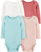 Carter's Baby Girl 4-Pack Heart Original Bodysuits