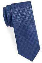 Saint Laurent Basket Weave Silk Narrow Tie