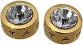 T Tahari Earrings, 14k Gold-Plated Crystal Stud Earrings