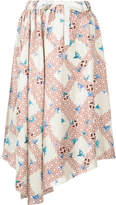 ASTRAET lattice bird print skirt