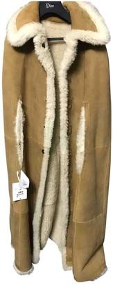 Christian Dior Beige Fur Jacket for Women