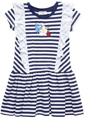 MonnaLisa Striped Cotton Jersey Dress