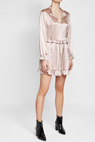 Anine Bing Silk Dress with Ruffled Trims