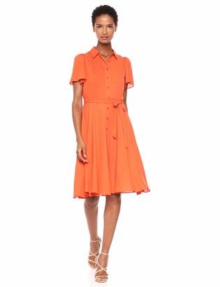Nanette Nanette Lepore Women's Flutter SS Pintuck A-Line Shirtdress