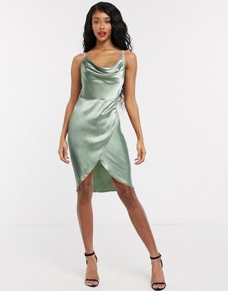 Flounce London Club cami mini slip dress in mint green