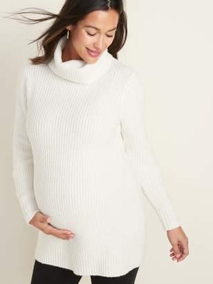 Old Navy Maternity Shaker-Stitch Turtleneck Tunic Sweater