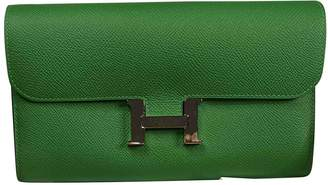 Hermes Constance Green Leather Wallets